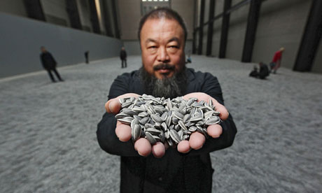 Ai Weiwei with his Tate Modern Turbine Hall installation Sunflower Seeds BBC/Getty Images Europe/Peter Macdiarmid/Getty Images