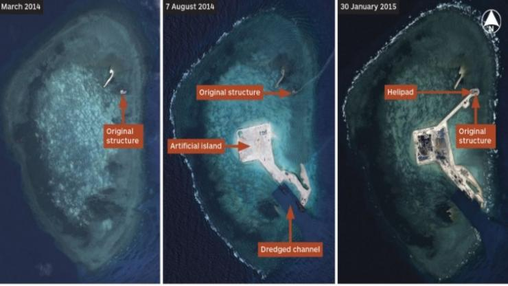 U.S. mulls sailing near disputed South China Sea islands: Reports