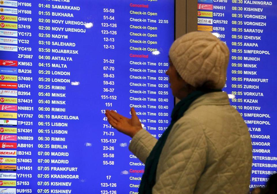 Russian Flights Will Not Land In Egypt Till The Reason Of Metrojet Crash Has Been Found