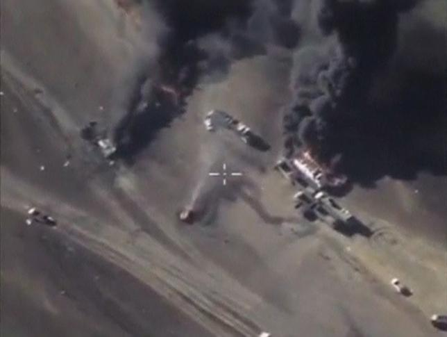 Ferocious Russian bombardments take their toll on the Islamic State