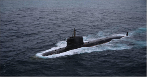 Scorpene class submarine Kalvari undertook it's first torpedo firing on 26 May 2017