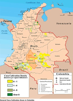 Colombia bans aerial spray on cocaine fields