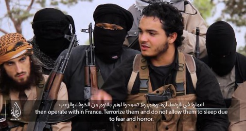 Britain Threatened in an ISIS video that Purports to Show Paris Attackers