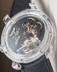 A $1.28 Million New Watch Made from Just One Piece of Transparent Sapphire