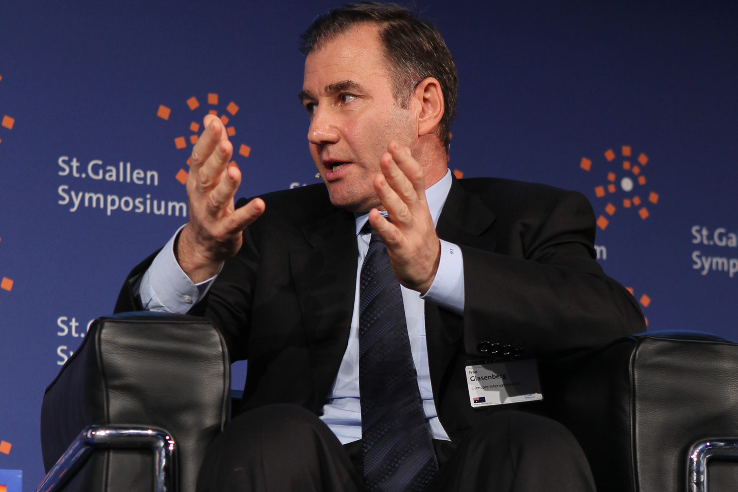 Ivan Glasenberg, picture by International Students' Committee