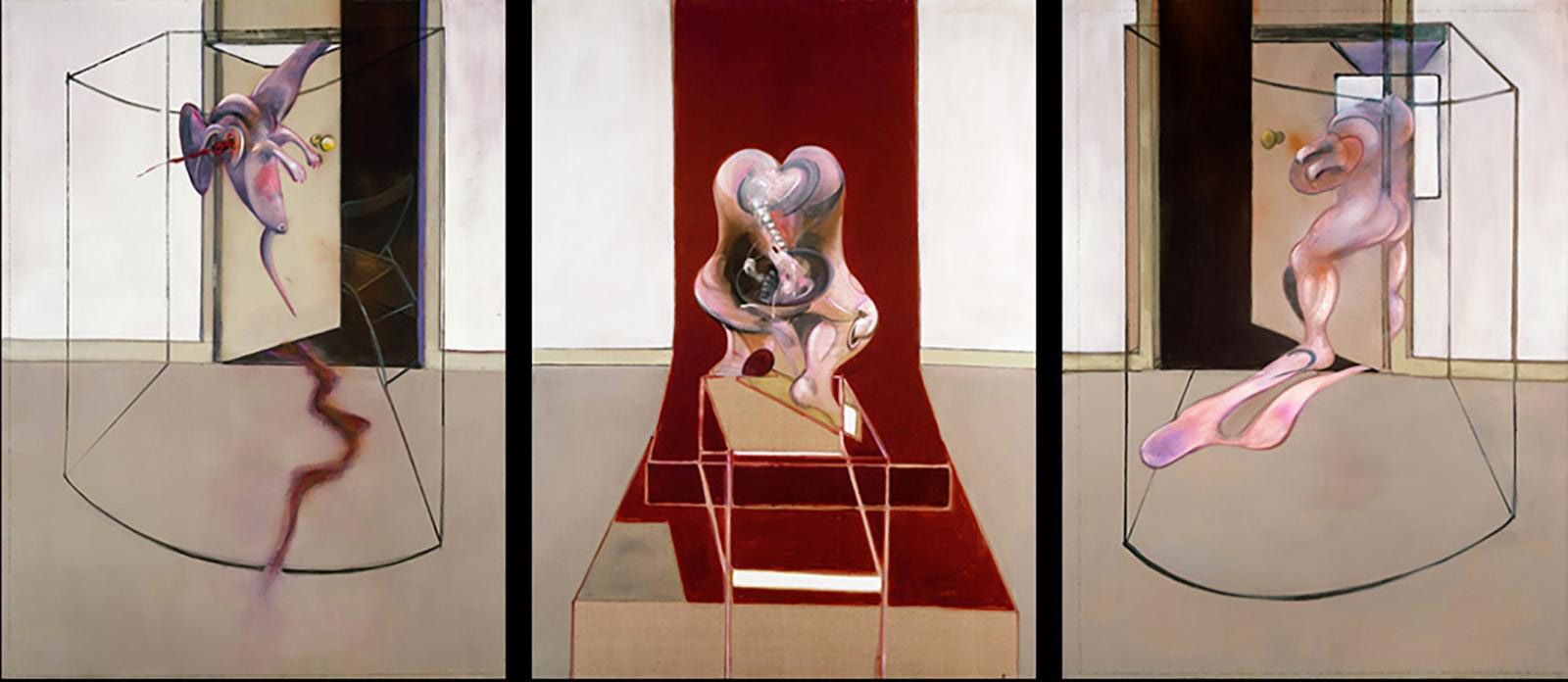 Francis Bacon's large triptych Inspired by the Oresteia of Aeschylus (1981) sold for $84.55 M in New York on June 29.