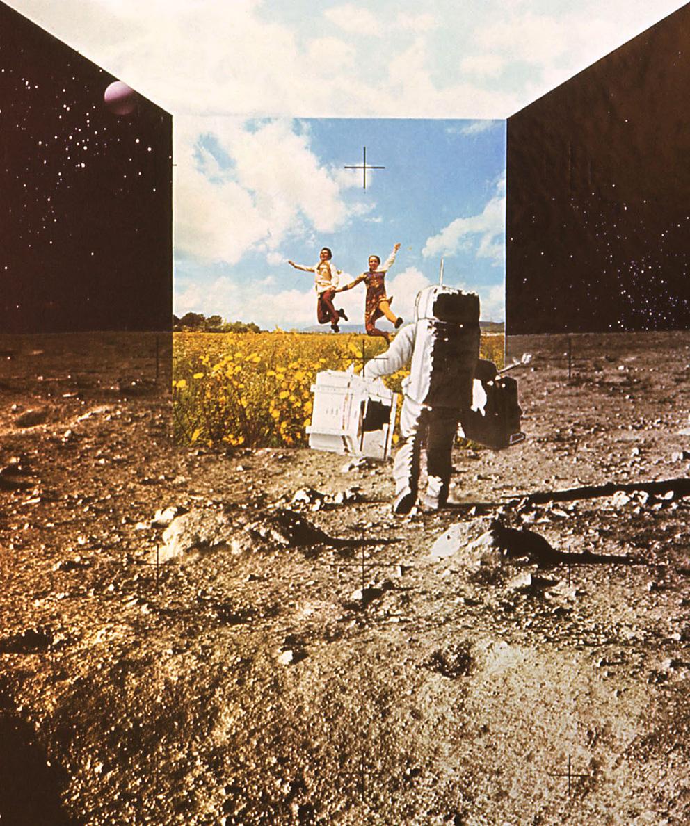 Superstudio, L'architettura interplanetaria, 1970–1971, Autostrada Terra-Luna. Photocollage. Archivio Toraldo di Francia, Filottrano