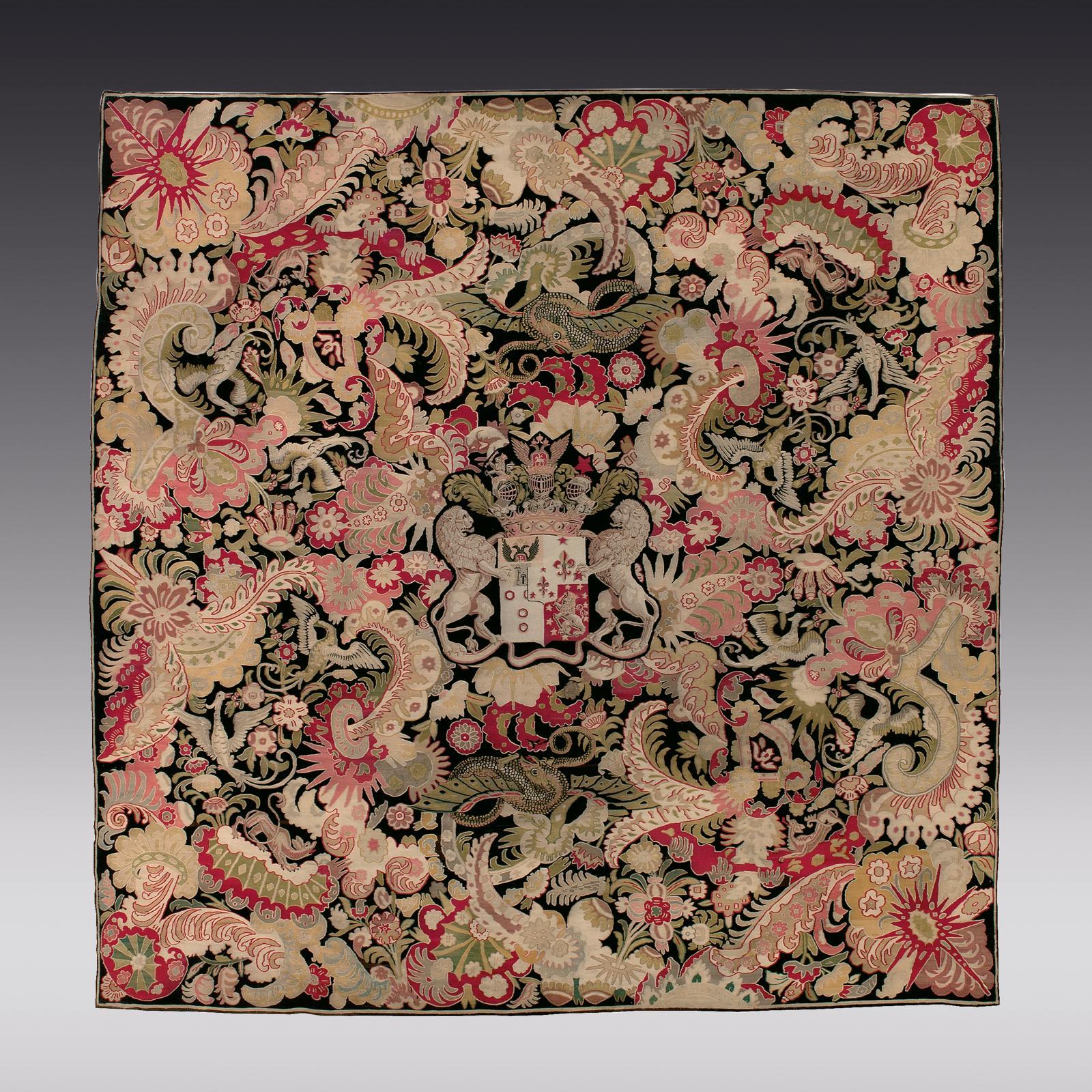 €75,000 Tapestry from a Russian Imperial workshop featuring the arms of General Pyotr Van Suchtelen (Count Jan Pieter Van Suchtelen, 1751-1836), probably for the Mihailovsky Palace, c. 1825, 314 x 310 cm (123.63 x 122.05 in). Paris, Drouot, April 5, 2011. Gros & Delettrez auction house.
