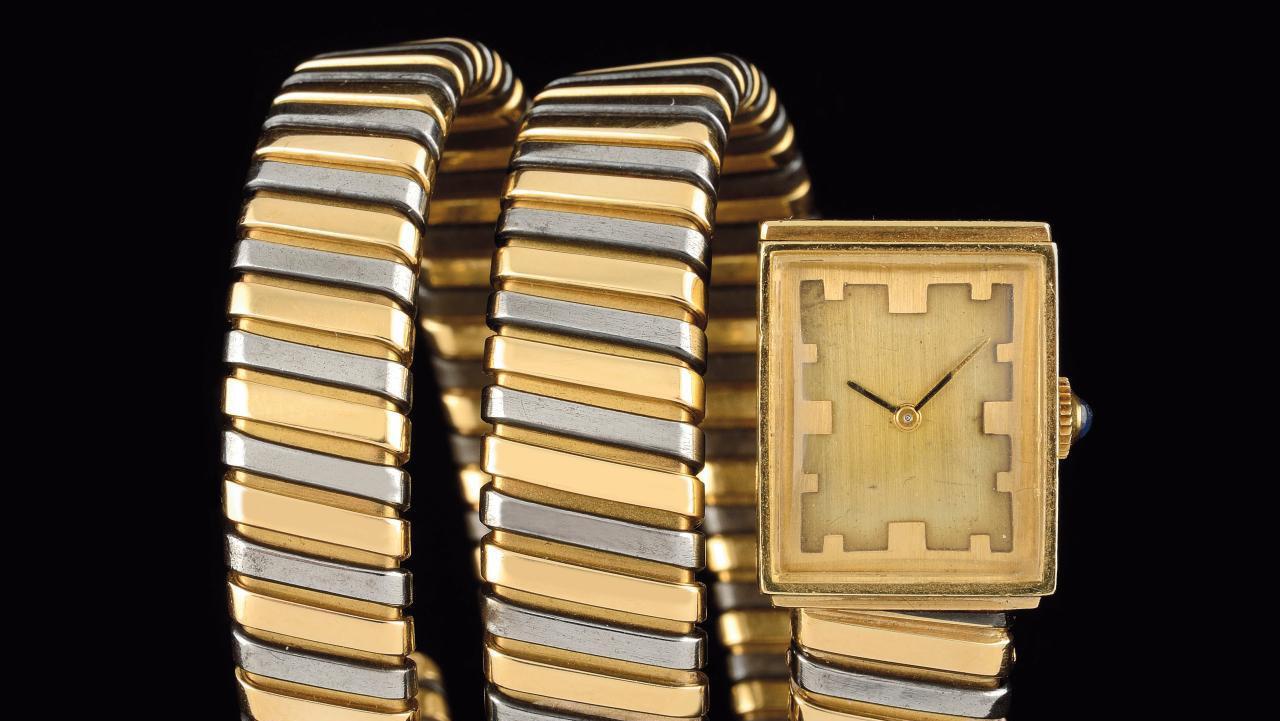 Bulgari, Serpenti tubogas watch, c. 1970, yellow gold 18k. © Karry