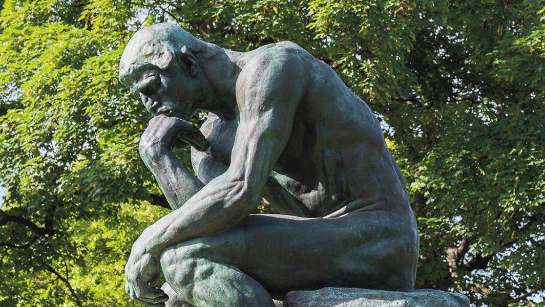 The Thinker in the Rodin Museum's garden. Agence Photographique du Musée Rodin/Jérôme Manoukian