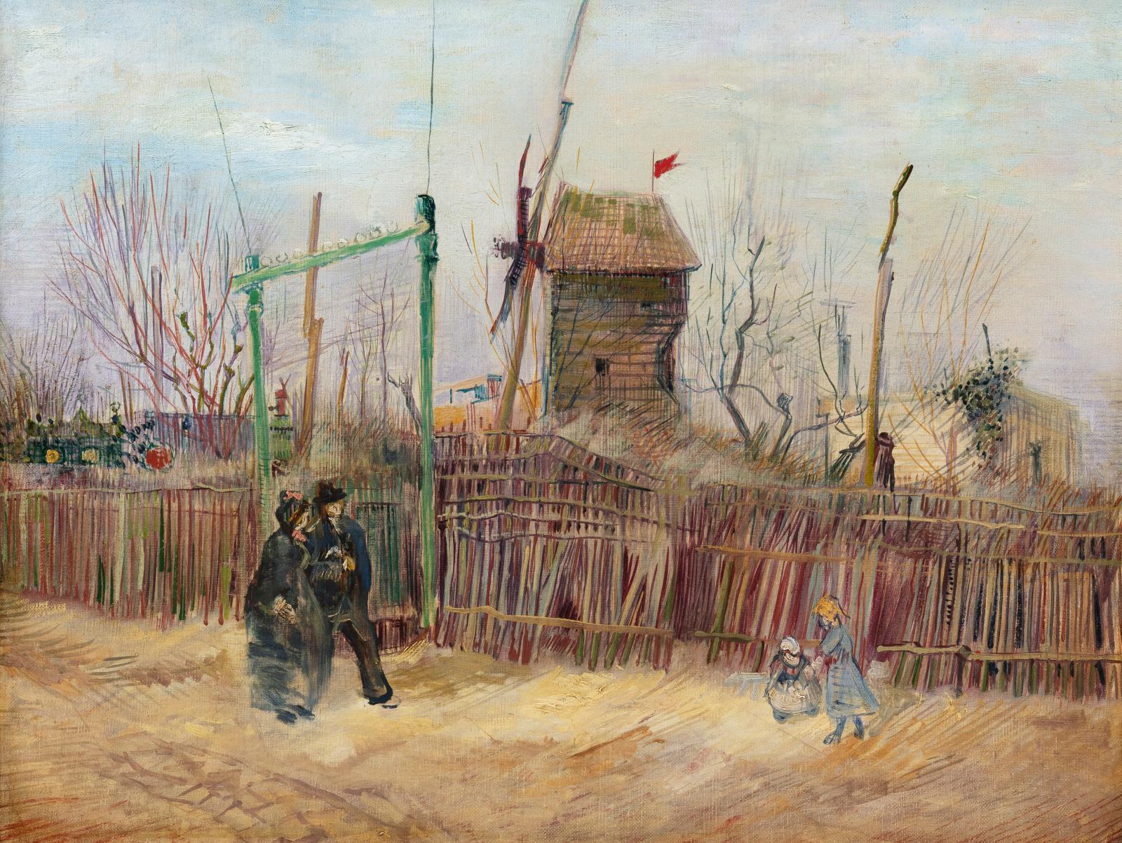 Vincent Van Gogh (1853-1890), Scène de rue à Montmartre (Impasse des Deux Frères et le moulin à Poivre), 1887, oil on canvas, 46.1 x 61.3 cm (18.14 x 24.16 in). Estimate: €5,000,000/8,000,000