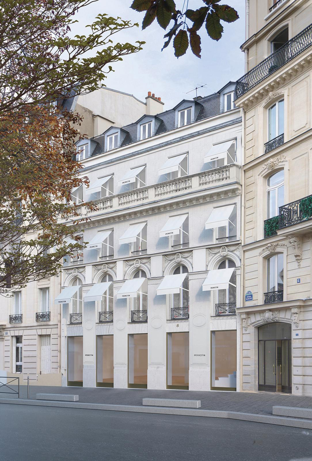 Emmanuel Perrotin's private mansion at 8 Avenue Matignon, which will be devoted to the secondary market. Photo: L'Atelier Senzu