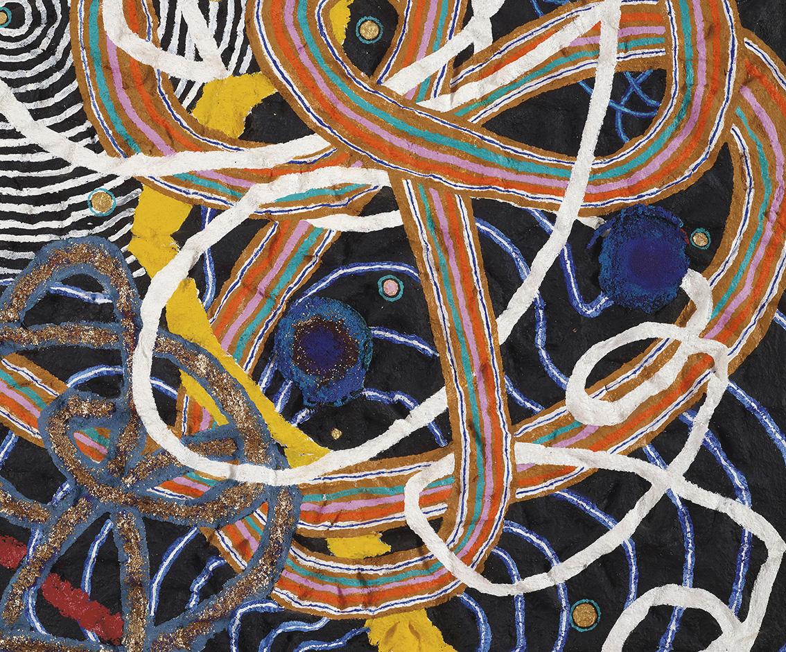 Nabil Nahas (b. 1949), Lebanon Twizzler, 2013, acrylic on canvas, 213.5 x 153 x 9 cm/84.05 x 60.23 x 3.54 in. Courtesy of Ramzi & Saeda Dalloul Art Foundation