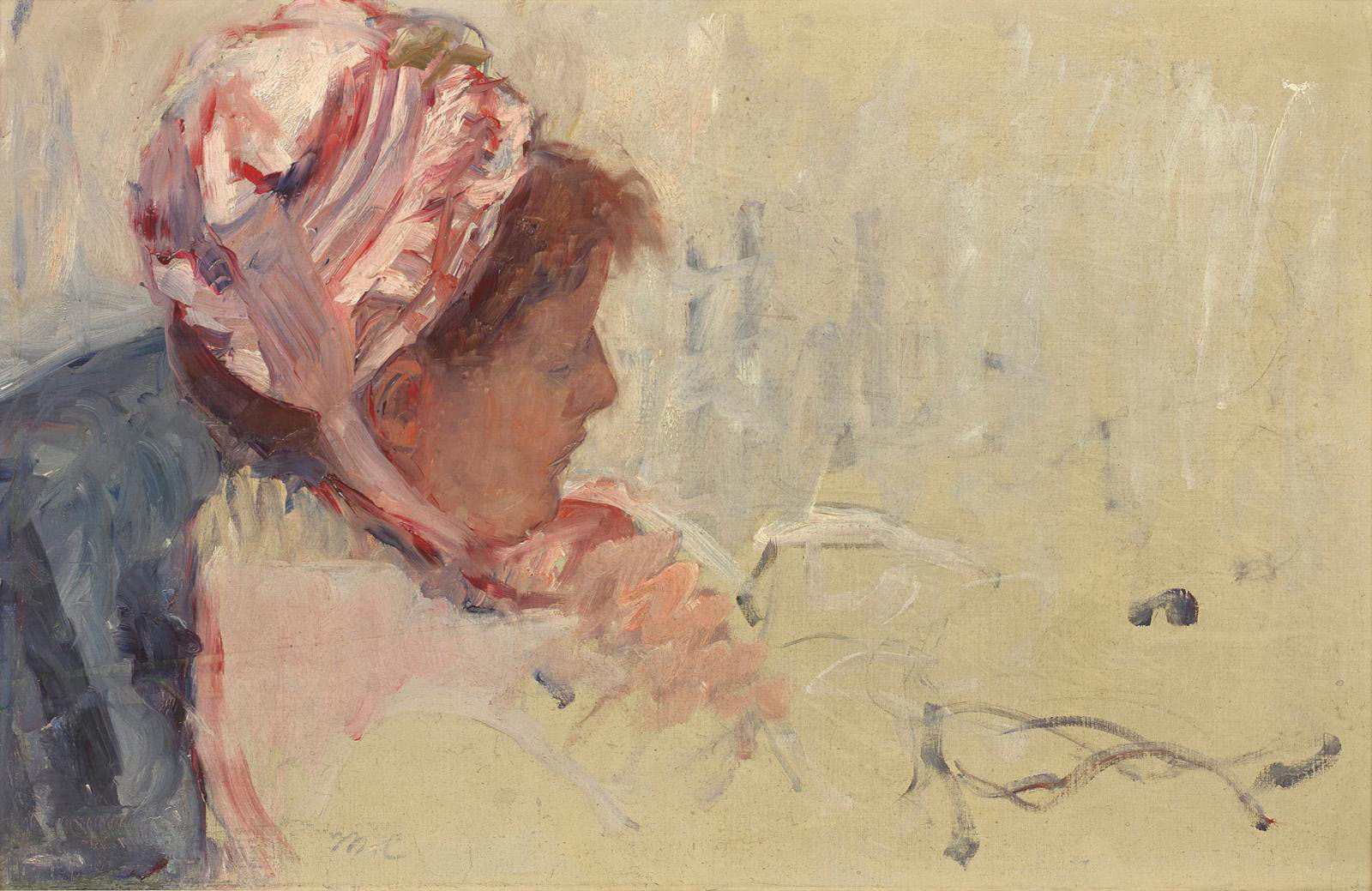 Mary Cassatt (1844-1926), Étude pour la tasse de thé (Study For a Cup of Tea) or L'Heure du thé (Tea Time), c. 1879-1881, oil on paper mounted on canvas, signed with initials in the lower middle, numbered on the back 692 and marked PH 77, 39.5 x 60 cm/15.6 x 23.6 in.