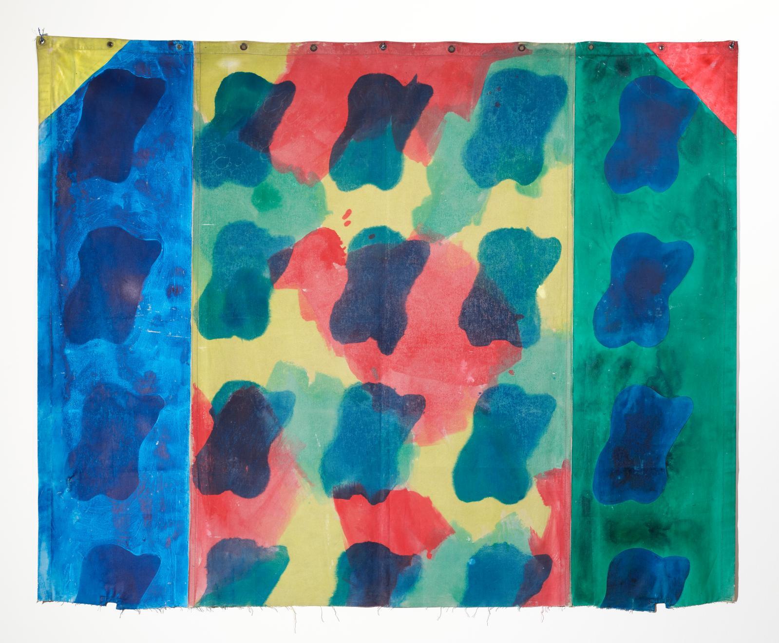 Claude Viallat (b. 1936), Untitled, 1976, Acrylic on tarpaulin. Image courtesy of MNHA, Luxembourg © Adagp, Paris, 2021