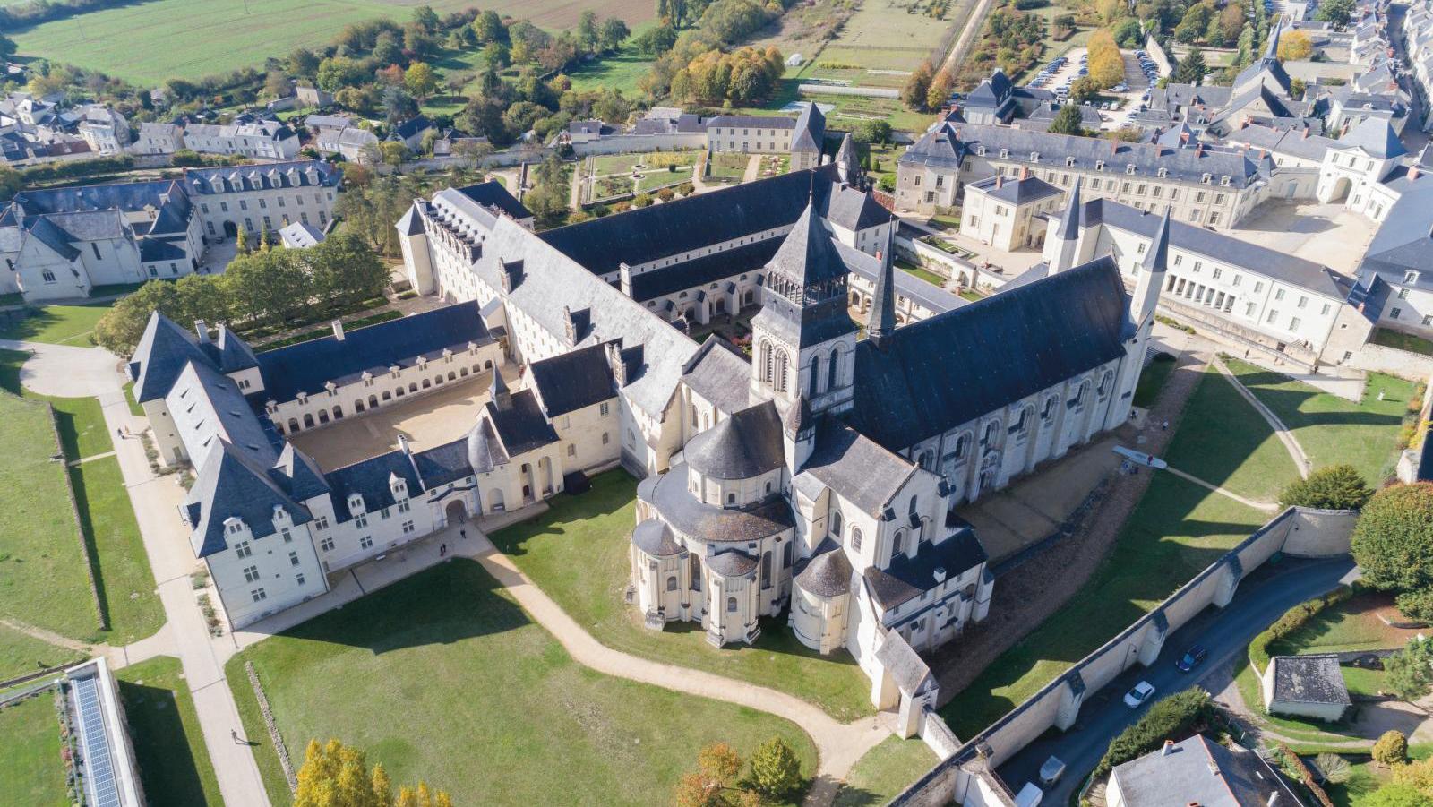 The Royal Abbaye of Fontevraud (sky view). © Région Pays de la Loire / M. Gross