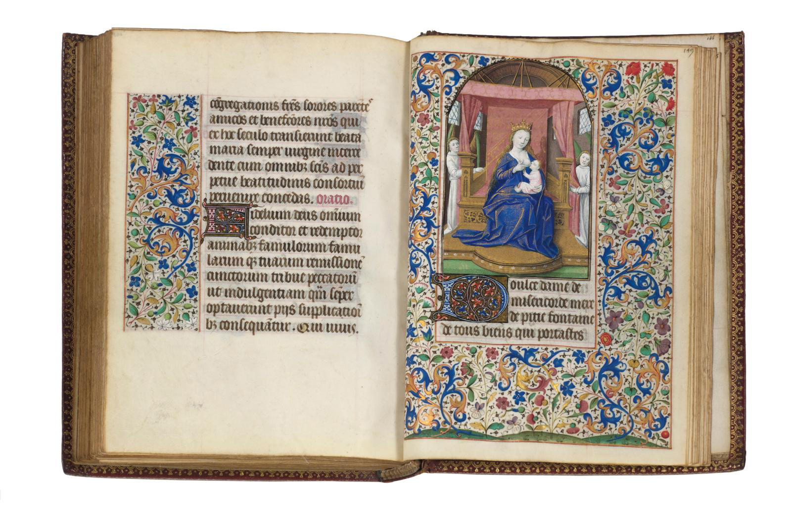 Book of Hours for Use in Paris in Latin and French, illuminated manuscript on parchment by the Coëtivy Master, 167 leaves, Paris, c. 1460, 13 x 19 cm /5.19 x 7.48 in. Estimate: €130,000/150,000