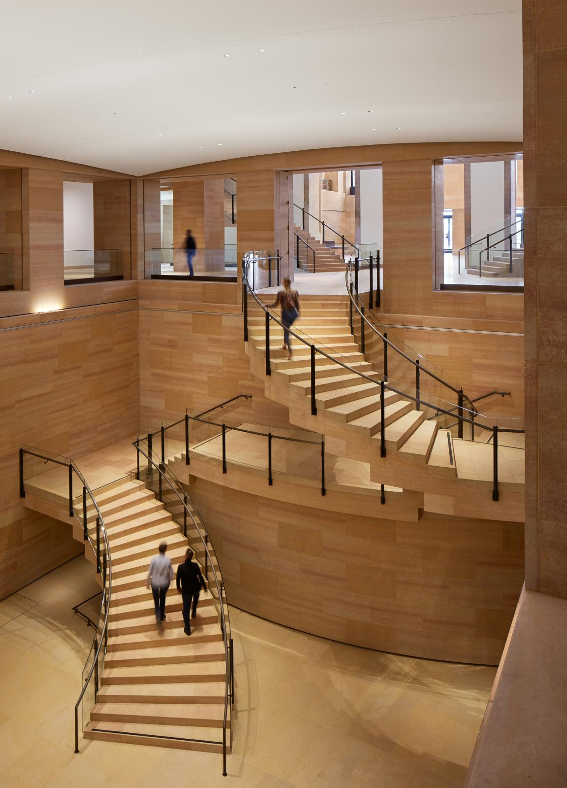 View from level one, looking west down into the Williams Forum. Steve Hall © Hall + Merrick Photographers, courtesy Philadelphia Museum of Art 202