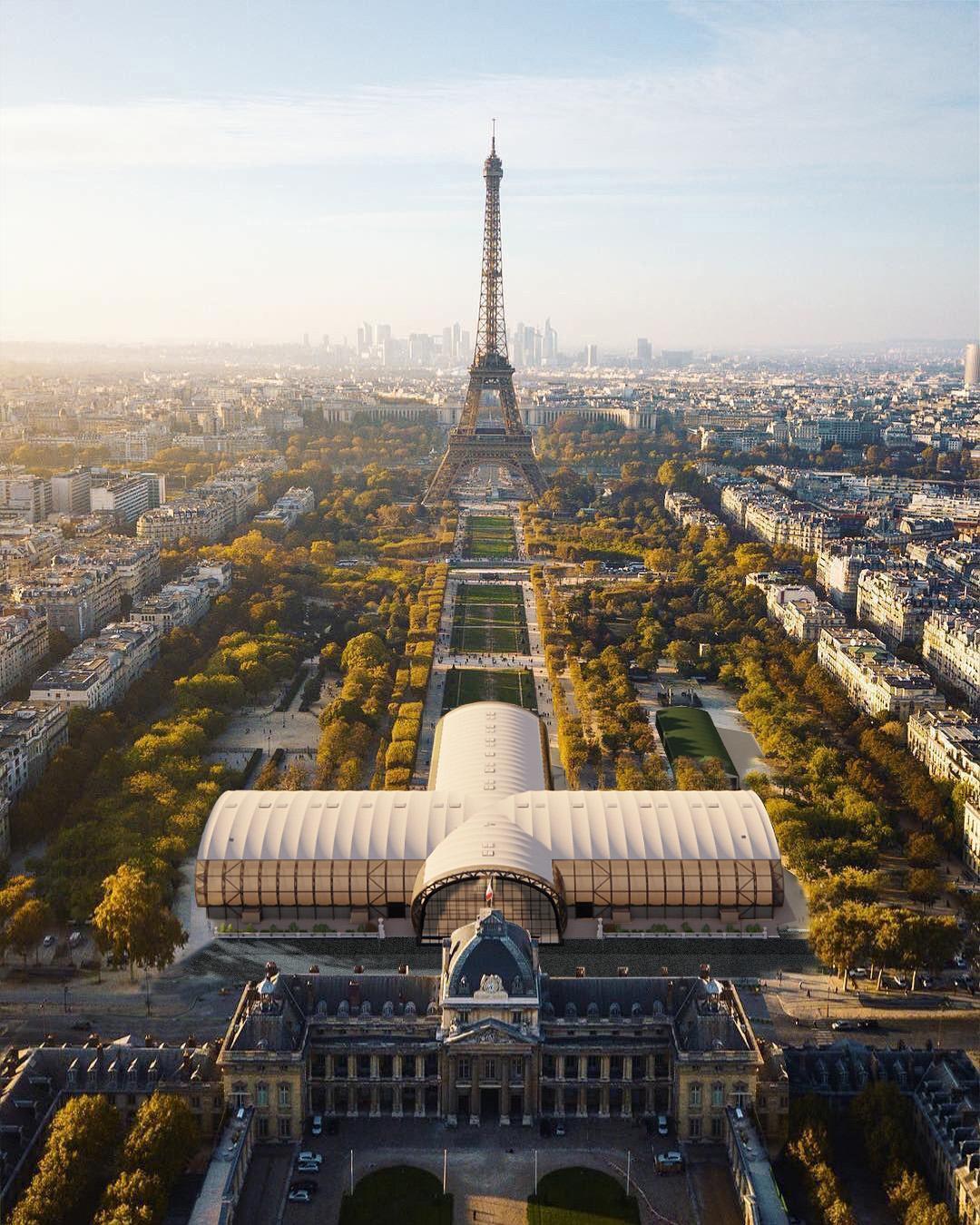 The Grand Palais Ephémère (Temporary Grand Palais) © Wilmotte & Associés