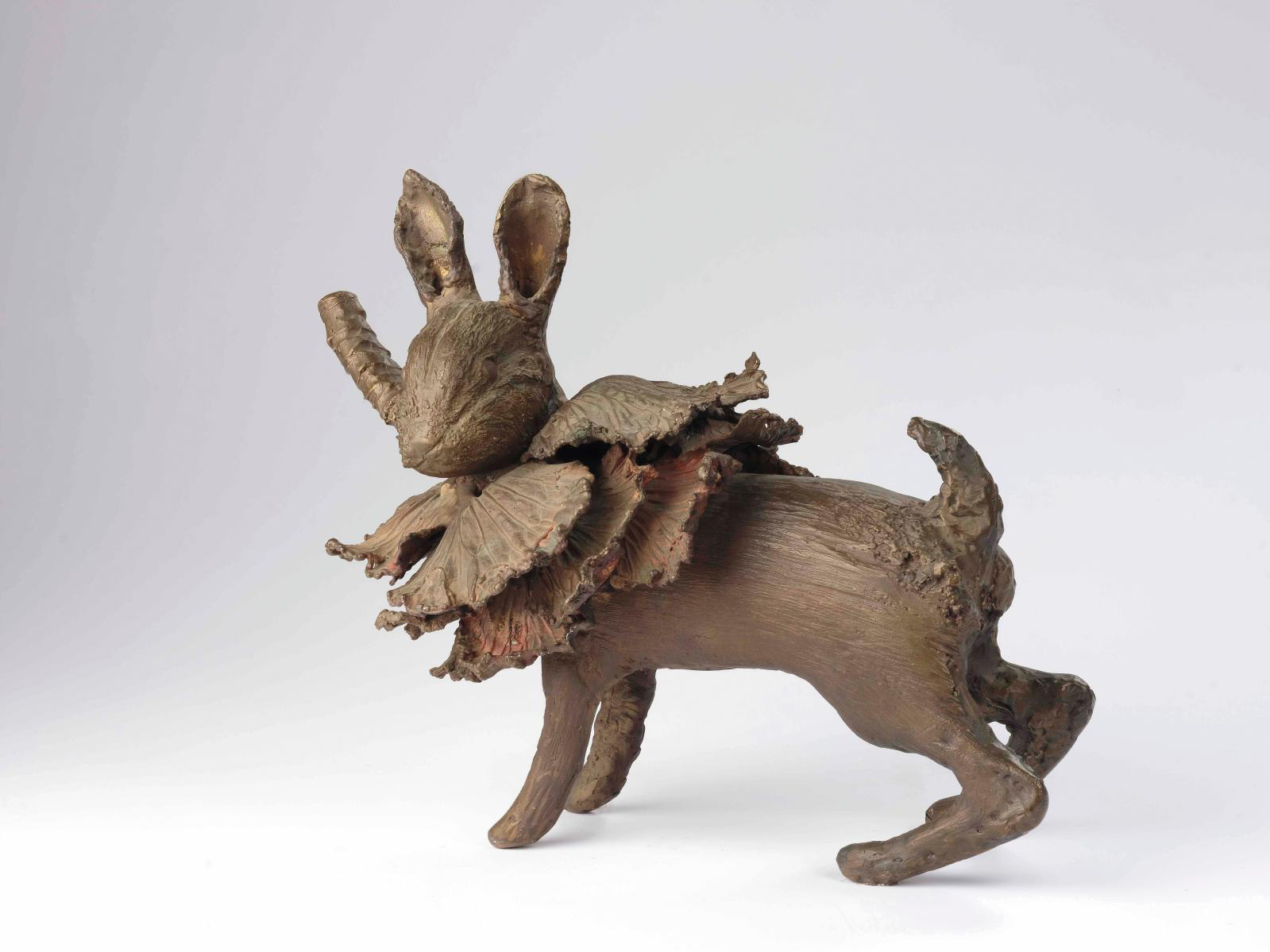 Claude Lalanne (1925–2019), Lapin-Chou I (Rabbit-Cabbage I), bronze proof with a shaded bronze and copper patina, numbered 5/8, 25 x 30 x 17.5 cm/9.84 x 11.81 x 6.89 in. Result: €194,500