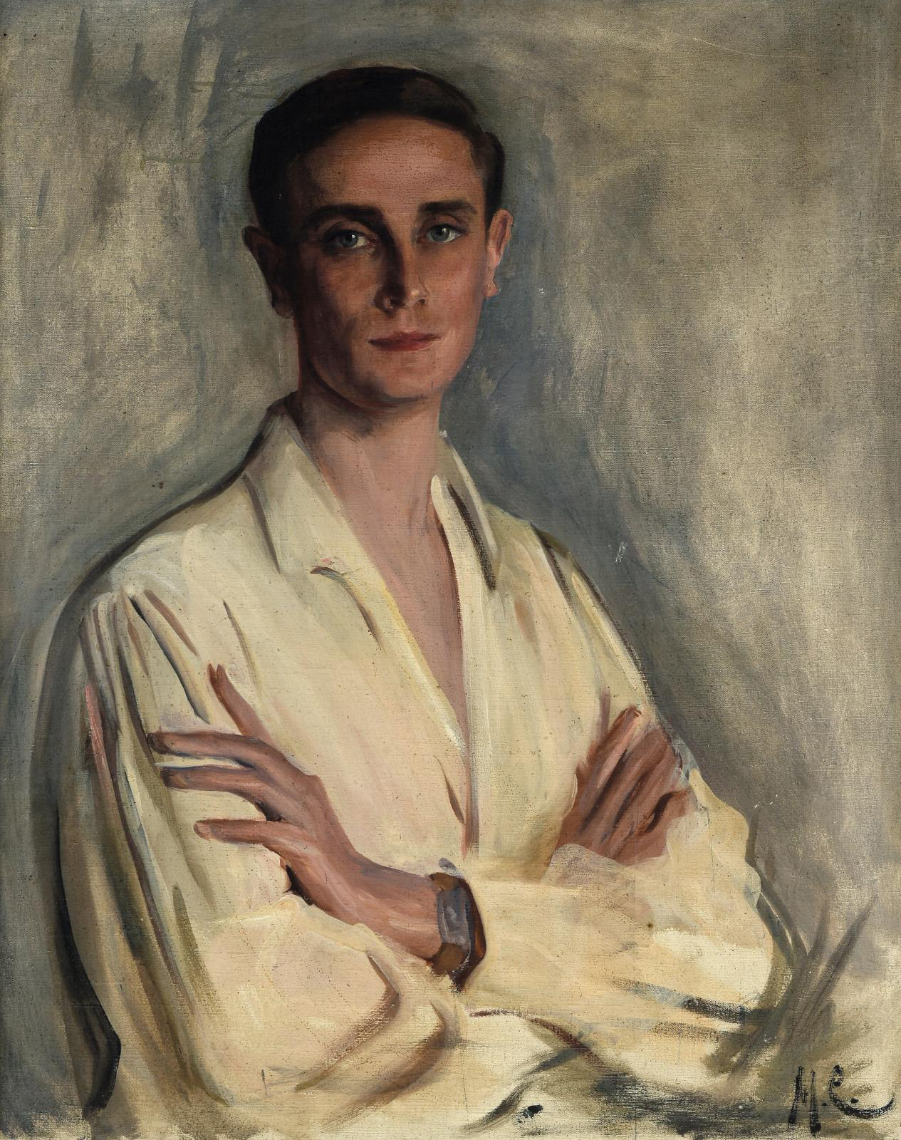 Early 20th-century Russian School, Portrait of Prince Felix Felixovich Yusupov (1887-1967), oil on canvas signed with the initials M.C., 80 x 63 cm/31.5 x 24.8 in. Estimate: €30,000/50,000