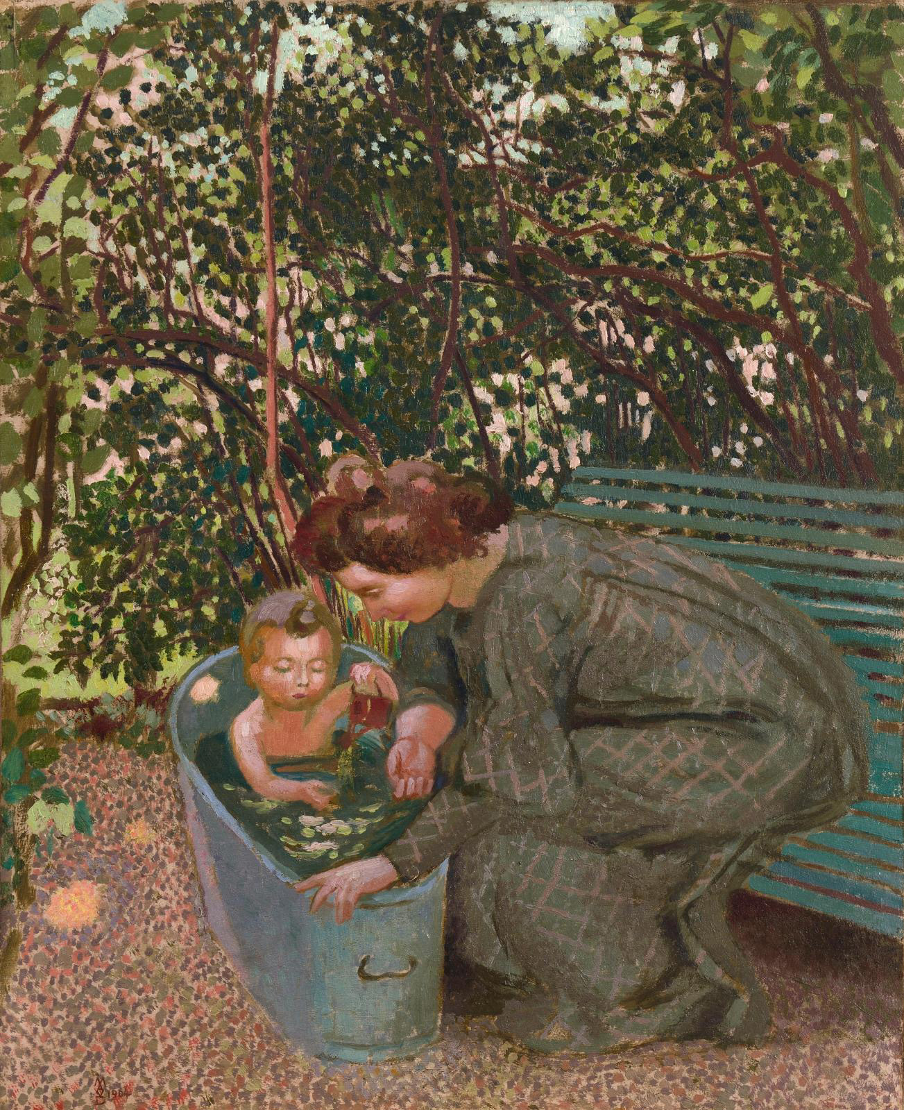 Maurice Denis (1870-1943), Le Bain en plein air (The Outdoor Bath), 1904, private collection, courtesy of the Berès Gallery, Paris. © Galerie Berès