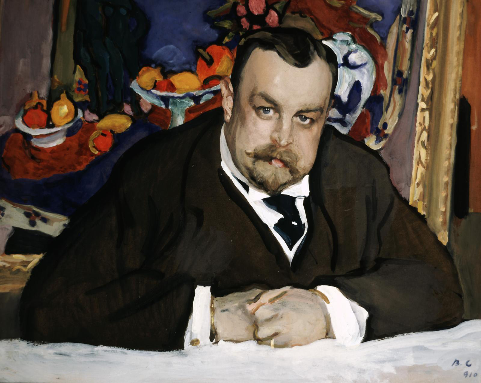 Valentin Serov (1865–1911), Portrait du collectionneur Ivan Morozov (Portrait of the Collector Ivan Morozov, 1910), tempera on cardboard, 63.5 x 77 cm/25 x 30.31 in. Tretyakov National Gallery, Moscow