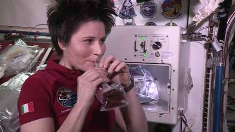 Samantha Cristoforetti is the First to Try Space-Brewed Coffee