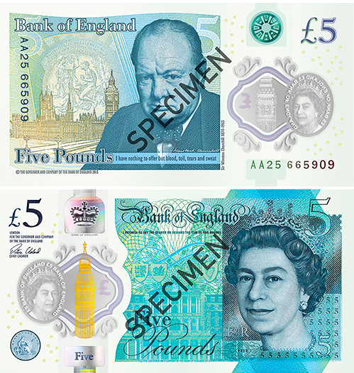 Bank of England introduced the UK's first plastic banknote