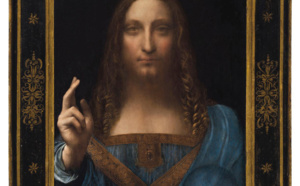 The Louvre and the C2RMF have recognized Salvator Mundi as a work by Leonardo da Vinci, abraded and partly repainted over the centuries. © Christie's