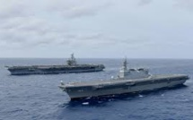 US Navy Carriers Carry On Drills In South China Sea While Chinese Ships Watched